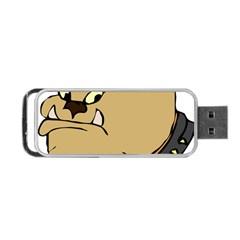 Bulldog Dog Head Canine Pet Portable Usb Flash (one Side)