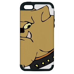 Bulldog Dog Head Canine Pet Apple Iphone 5 Hardshell Case (pc+silicone)