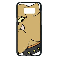 Bulldog Dog Head Canine Pet Samsung Galaxy S8 Plus Black Seamless Case