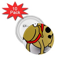 Dog Brown Spots Black Cartoon 1 75  Buttons (10 Pack)