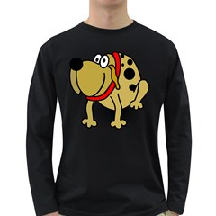Dog Brown Spots Black Cartoon Long Sleeve Dark T Shirts