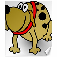 Dog Brown Spots Black Cartoon Canvas 8  X 10