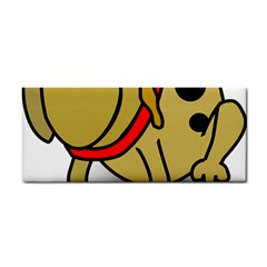 Dog Brown Spots Black Cartoon Hand Towel
