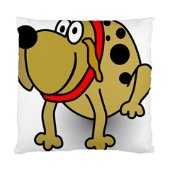 Dog Brown Spots Black Cartoon Standard Cushion Case (one Side)