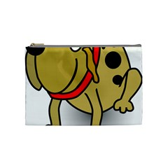 Dog Brown Spots Black Cartoon Cosmetic Bag (medium)