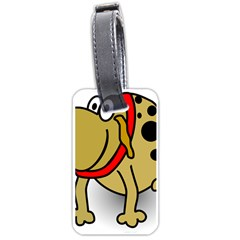 Dog Brown Spots Black Cartoon Luggage Tags (one Side)