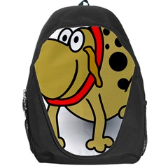 Dog Brown Spots Black Cartoon Backpack Bag