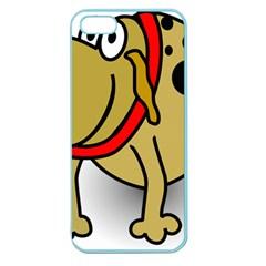 Dog Brown Spots Black Cartoon Apple Seamless Iphone 5 Case (color)