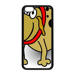 Dog Brown Spots Black Cartoon Apple Iphone 5c Seamless Case (black)