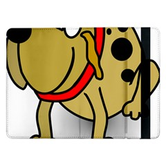 Dog Brown Spots Black Cartoon Samsung Galaxy Tab Pro 12 2  Flip Case