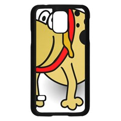 Dog Brown Spots Black Cartoon Samsung Galaxy S5 Case (black)