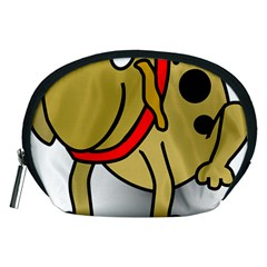 Dog Brown Spots Black Cartoon Accessory Pouches (medium)