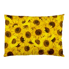 Sunflower Pillow Case (two Sides) by eyeconart