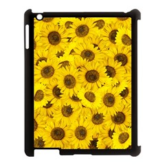 Sunflower Apple Ipad 3/4 Case (black) by eyeconart