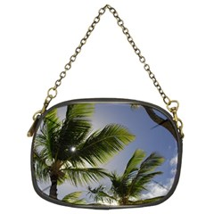 Palm Trees Tropical Beach Scenes Coastal   Chain Purses (two Sides)