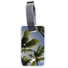 Palm Trees Tropical Beach Scenes Coastal   Luggage Tags (one Side)  by CrypticFragmentsColors