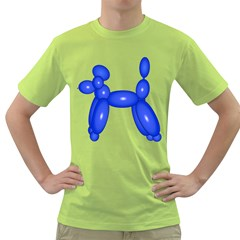 Poodle Dog Balloon Animal Clown Green T Shirt