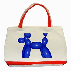Poodle Dog Balloon Animal Clown Classic Tote Bag (red)