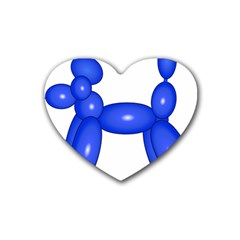 Poodle Dog Balloon Animal Clown Heart Coaster (4 Pack)