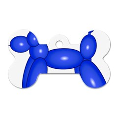 Poodle Dog Balloon Animal Clown Dog Tag Bone (two Sides)