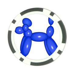 Poodle Dog Balloon Animal Clown Poker Chip Card Guard (10 Pack)