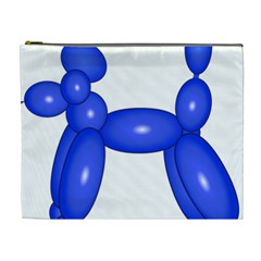 Poodle Dog Balloon Animal Clown Cosmetic Bag (xl)
