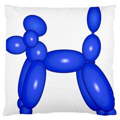 Poodle Dog Balloon Animal Clown Large Flano Cushion Case (one Side)
