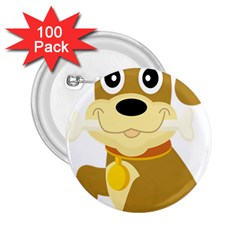 Dog Doggie Bone Dog Collar Cub 2 25  Buttons (100 Pack)