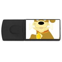 Dog Doggie Bone Dog Collar Cub Rectangular Usb Flash Drive