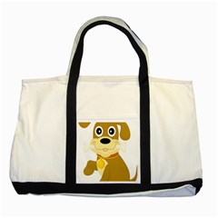 Dog Doggie Bone Dog Collar Cub Two Tone Tote Bag