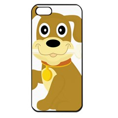 Dog Doggie Bone Dog Collar Cub Apple Iphone 5 Seamless Case (black) by Nexatart