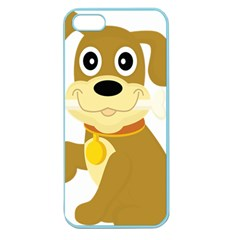 Dog Doggie Bone Dog Collar Cub Apple Seamless Iphone 5 Case (color)