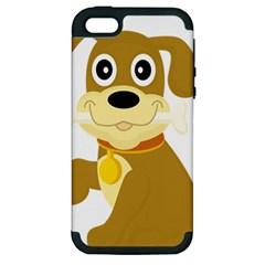 Dog Doggie Bone Dog Collar Cub Apple Iphone 5 Hardshell Case (pc+silicone)