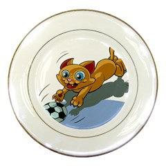 Cat Ball Play Funny Game Playing Porcelain Plates