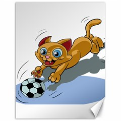 Cat Ball Play Funny Game Playing Canvas 18  X 24