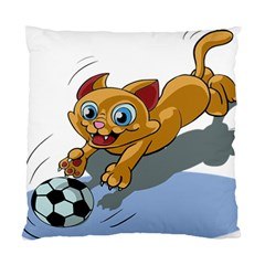 Cat Ball Play Funny Game Playing Standard Cushion Case (one Side)