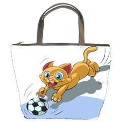Cat Ball Play Funny Game Playing Bucket Bags