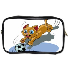 Cat Ball Play Funny Game Playing Toiletries Bags 2 Side