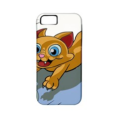 Cat Ball Play Funny Game Playing Apple Iphone 5 Classic Hardshell Case (pc+silicone)