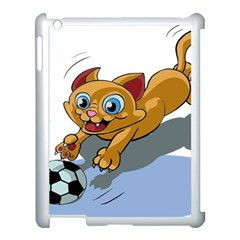 Cat Ball Play Funny Game Playing Apple Ipad 3/4 Case (white)