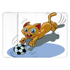 Cat Ball Play Funny Game Playing Samsung Galaxy Tab 8 9  P7300 Flip Case