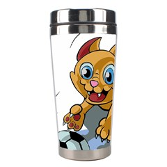 Cat Ball Play Funny Game Playing Stainless Steel Travel Tumblers