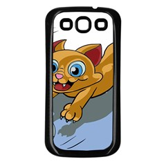 Cat Ball Play Funny Game Playing Samsung Galaxy S3 Back Case (black)
