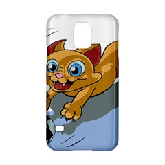Cat Ball Play Funny Game Playing Samsung Galaxy S5 Hardshell Case