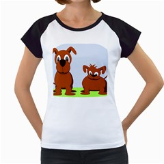 Animals Dogs Mutts Dog Pets Women s Cap Sleeve T