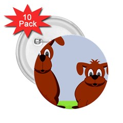 Animals Dogs Mutts Dog Pets 2 25  Buttons (10 Pack)