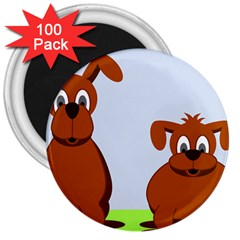 Animals Dogs Mutts Dog Pets 3  Magnets (100 Pack)