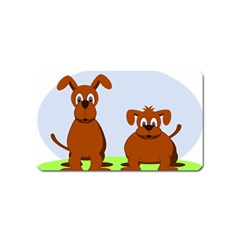 Animals Dogs Mutts Dog Pets Magnet (name Card)