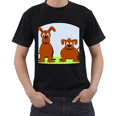 Animals Dogs Mutts Dog Pets Men s T Shirt (black) (two Sided)
