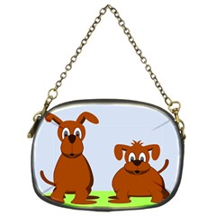 Animals Dogs Mutts Dog Pets Chain Purses (two Sides)